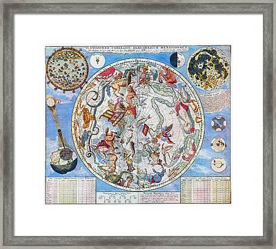 Celestial Planisphere Framed Print by Granger