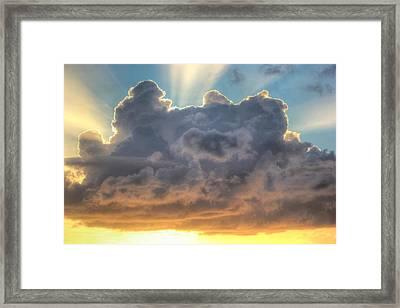Celestial Rays Framed Print