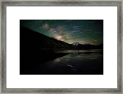 Celestial Rotation In The Colorado San Juans Framed Print by Mike Berenson