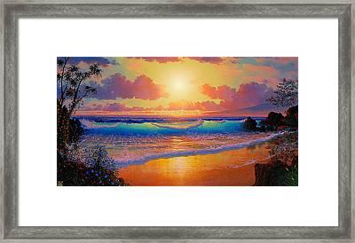 Celestial Shores Framed Print by Loren Adams