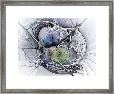 Celestial Sphere Abstract Art Framed Print