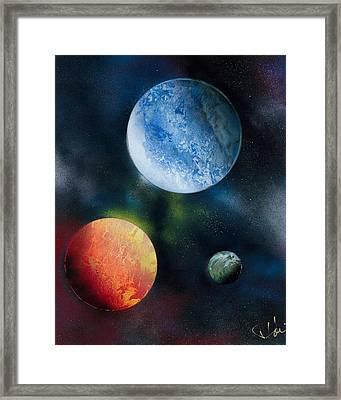 Celestial Triad Framed Print