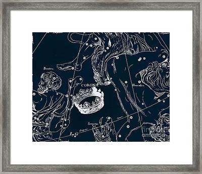 Celetial Antique Map Framed Print