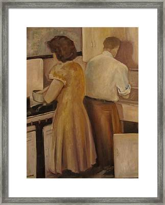 Celia And Peter Framed Print
