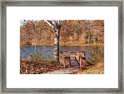 Celina Lake Path Framed Print by Sandy Keeton