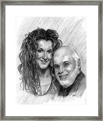Celine Dion And Rene Angelil Framed Print