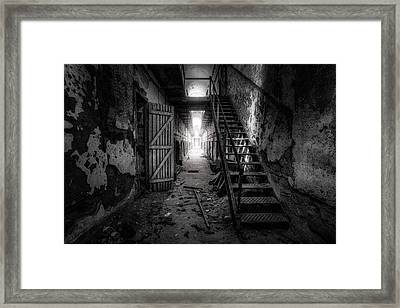 Cell Block - Historic Ruins - Penitentiary - Gary Heller Framed Print