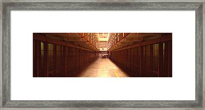 Cell Block In A Prison, Alcatraz Framed Print