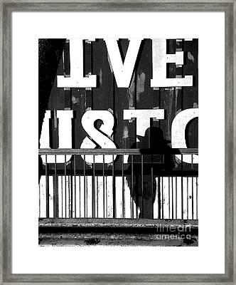 Cell Phone Cowboy Framed Print by Joe Jake Pratt