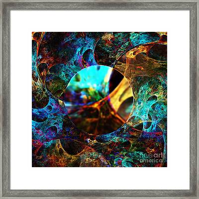 Cell Research Framed Print by Klara Acel