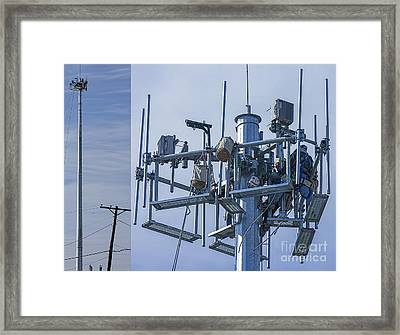 Cell Tower Workers Framed Print