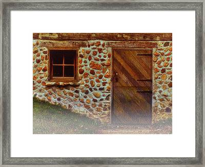 Cellar Door In The Mist Framed Print by Jack Zulli