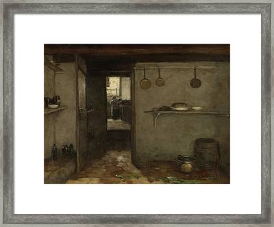 Cellar Of The Artist's Home In The Hague Framed Print by Litz Collection