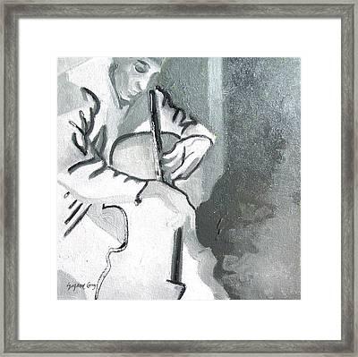 Cellist Framed Print by Suzanne Giuriati-Cerny