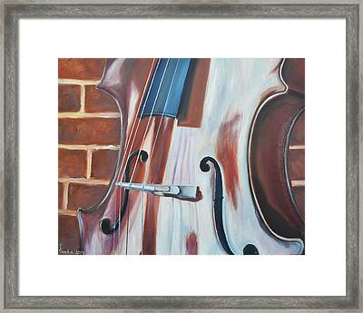 Cello And Brick Framed Print