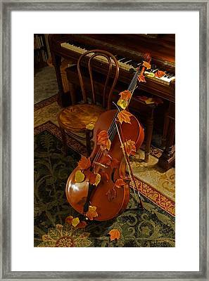 Cello Autumn 1 Framed Print by Mick Anderson