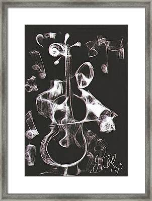 Cello Player  Framed Print by Jon Baldwin  Art