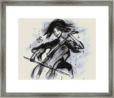 Cello Song Framed Print