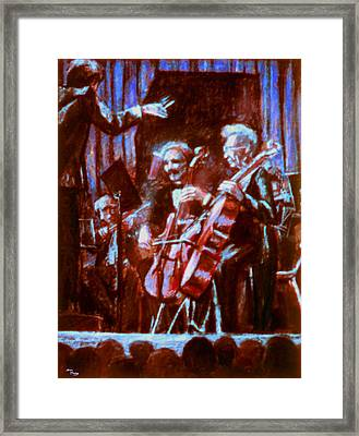 Cello_concerto_sketch Framed Print by Dan Terry