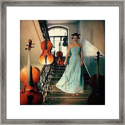 Cellos Framed Print by Anka Zhuravleva