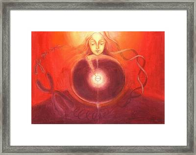 Cellular Yoga Framed Print by Shiva  Vangara