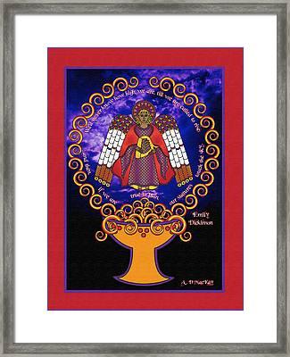 Celtic Angel Rising Framed Print