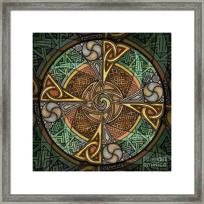 Celtic Aperture Mandala Framed Print by Kristen Fox