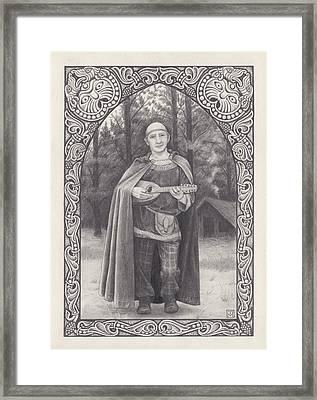 Celtic Bard Framed Print by Tania Crossingham