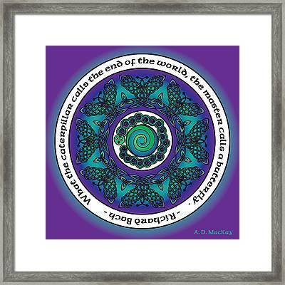Celtic Butterfly Mandala Framed Print