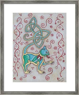 Celtic Cattus Framed Print by Beth Clark-McDonal