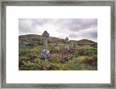 Framed Print featuring the photograph Celtic Cemetary by Hugh Smith