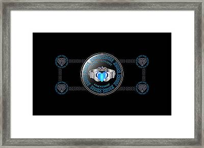 Celtic Claddagh Ring Framed Print by Ireland Calling