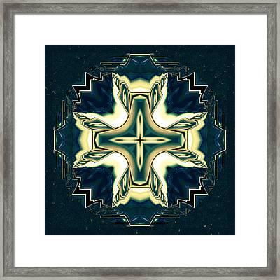 Celtic Cross Abstract Framed Print by Georgiana Romanovna