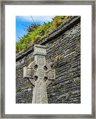 Celtic Cross At Kilmurry-ibrickan Church Framed Print