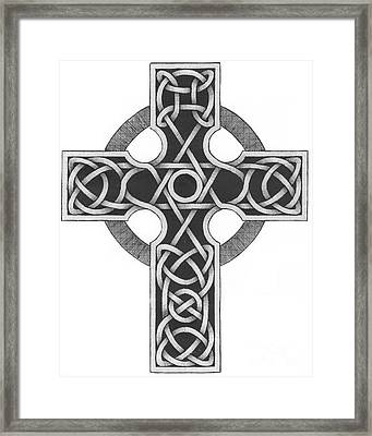 Celtic Cross Framed Print by Chris Tetreault