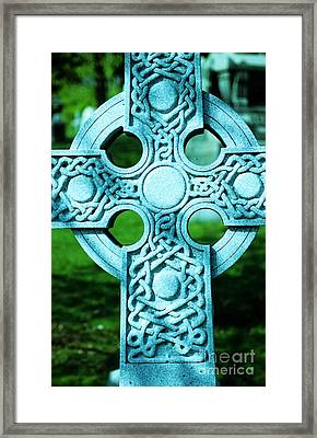 Celtic Cross Framed Print by Kathleen Struckle