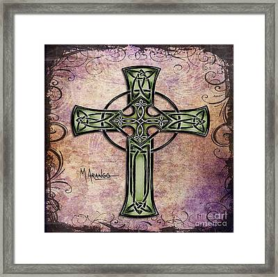 Celtic Cross Framed Print by Maria Arango