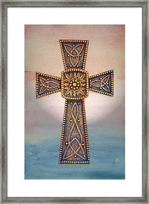 Celtic Cross Sunrise Framed Print by Sandi OReilly