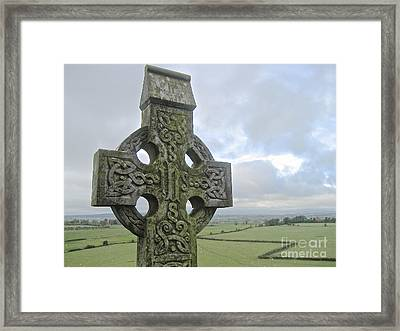 Framed Print featuring the photograph Celtic Cross by Suzanne Oesterling