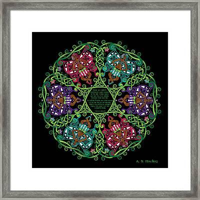 Celtic Fairy Mandala Framed Print