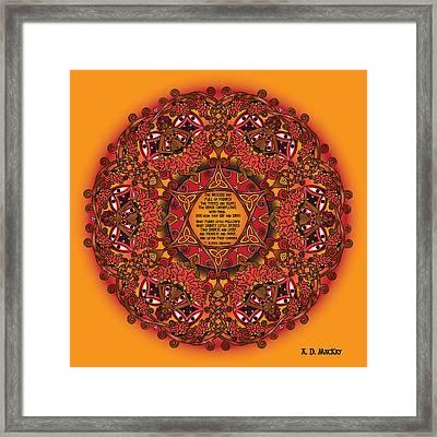 Celtic Fall Fairy Mandala Framed Print
