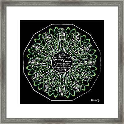 Celtic Flower Of Death Framed Print