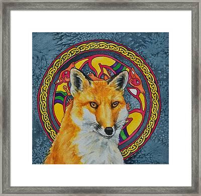 Celtic Fox Framed Print by Beth Clark-McDonal