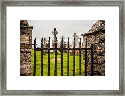 Celtic Graveyard Framed Print by Craig Brown