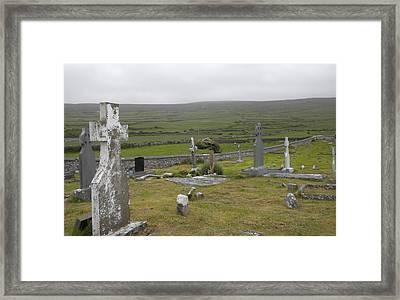 Celtic Graveyard Framed Print