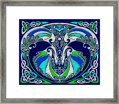 Celtic Love Dragons Framed Print