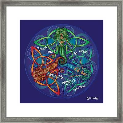 Celtic Mermaid Mandala Framed Print