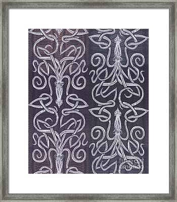 Celtic Plum Kraken Framed Print by CR Leyland