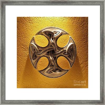 Celtic Pop Art Yellow Framed Print