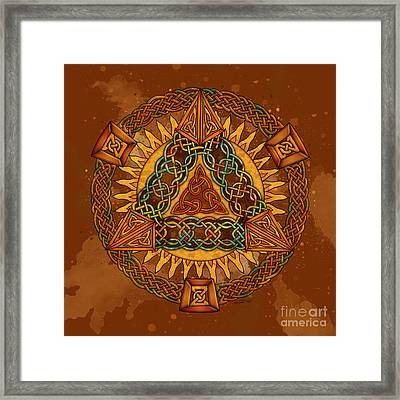 Celtic Pyramid Mandala Framed Print